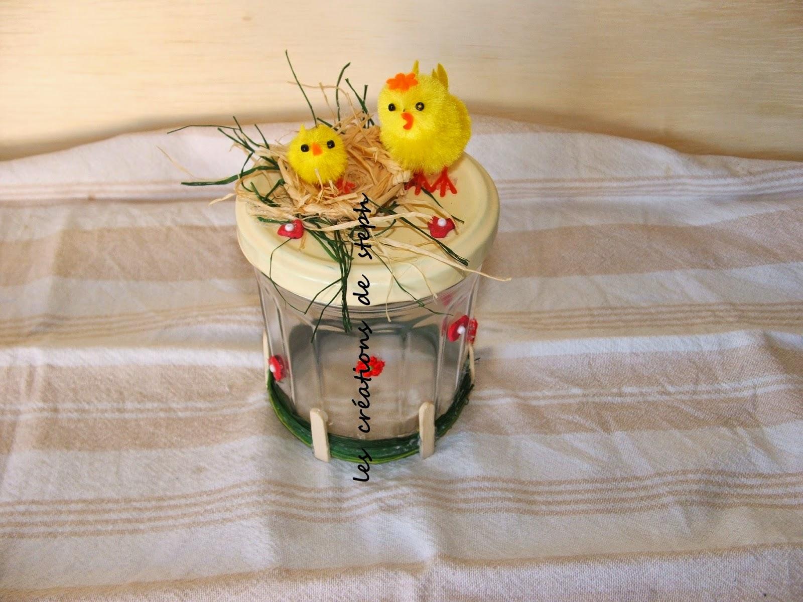 les cr ations de steph decoration sur pot en verre. Black Bedroom Furniture Sets. Home Design Ideas