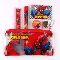 5 Astucci scuola SPIDERMAN bambino gadget regalo fine festa compleanno a tema