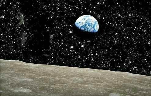 Bumi jika dilihat dari Bulan
