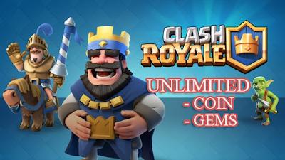 Cara Mudah Mendapat Unlimited Coin, Gold, Elixir dan Gems Clash Royale Gratis