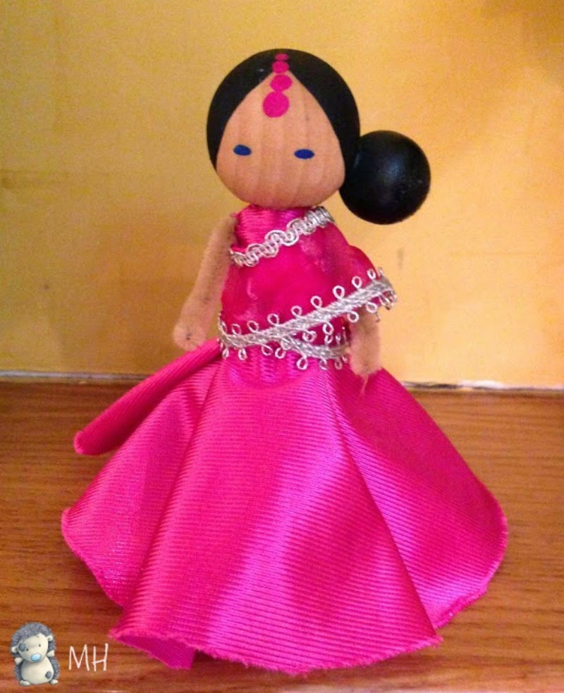 Clothespin dolls bollywood