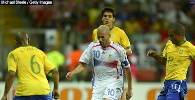 زيدان ضد البرازيل