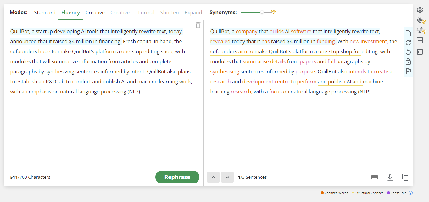 QuillBot taps AI to rewrite and rephrase whole paragraphs