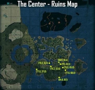 Ark Island Spawn Point Map