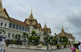 Gran Palacio Real de Bangkok. Zona de Recepción del Gran Palacio Real o Chakri Maha Prasat Hall.