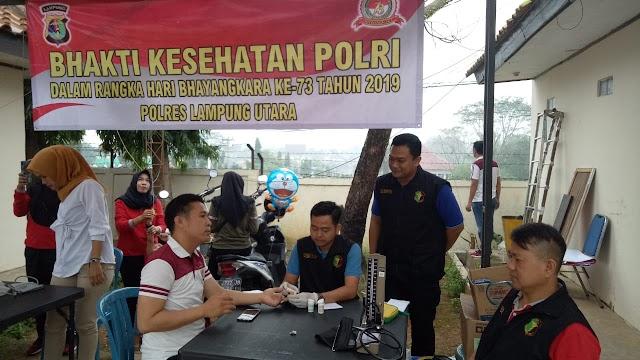 Semarakkan HUT Bhayangkara Ke-73, Barbagai Kegiatan Yang Dilakukan Polres Lampung Utara