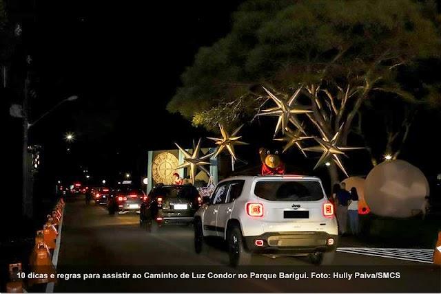 10 dicas e regras para assistir ao Caminho de Luz Condor no Parque Barigui