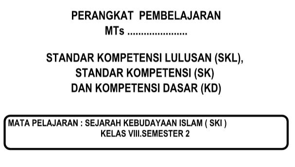 SKL SK KD SKI Kurikulum 2013 Revisi  Kelas 8 Semester 1 dan 2