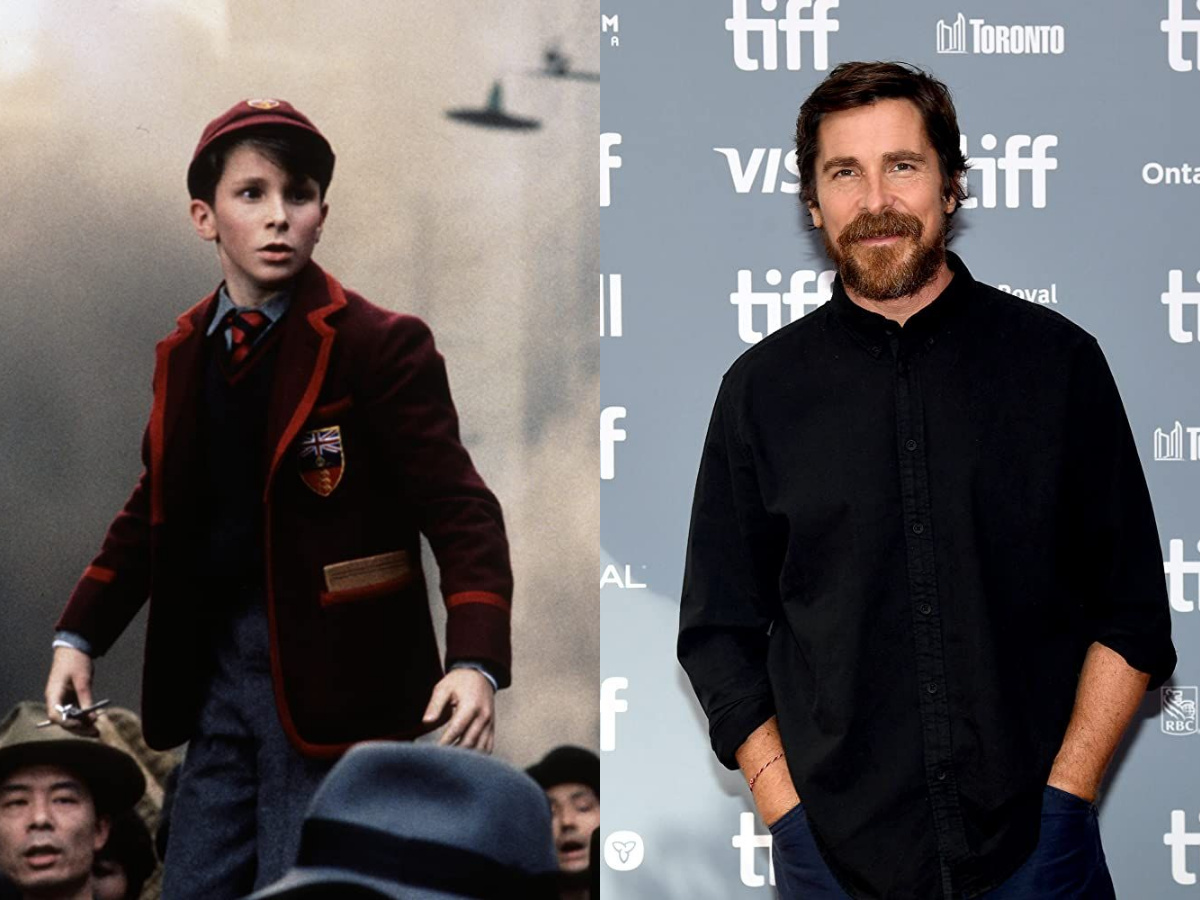 Christian Bale in 1987 and 2019