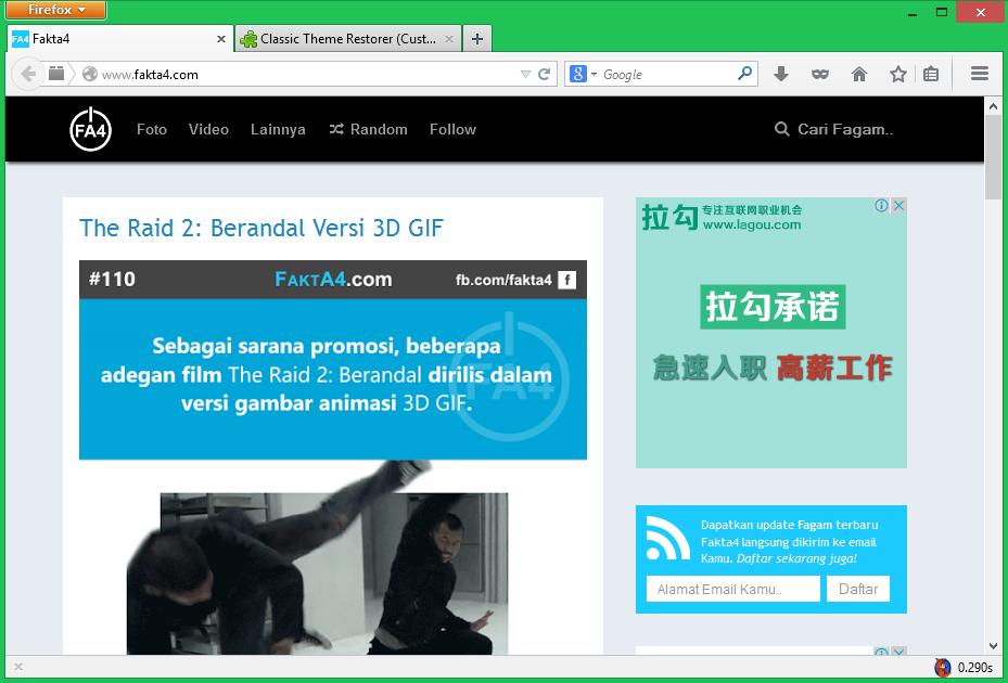 Mengembalikan Tampilan Lama Firefox dengan Classic Theme