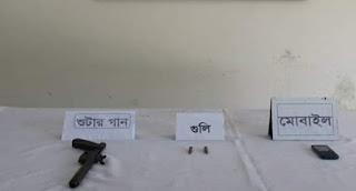 ঝিনাইদহ র্যাব -৬ এর অভিযানে অস্ত্র ও গুলি সহ দুই জন আটক