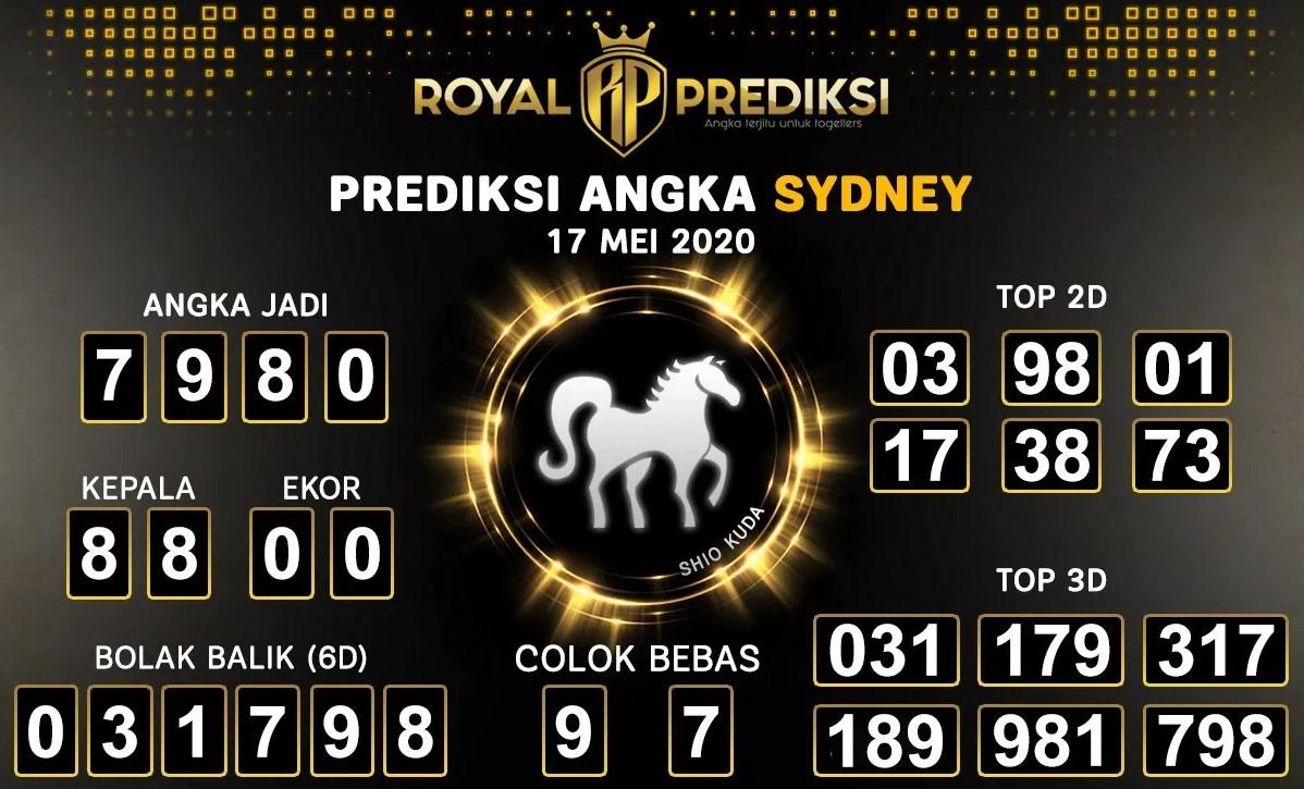 Prediksi Togel Sydney Minggu 17 Mei 2020 - Royal Prediksi Togel