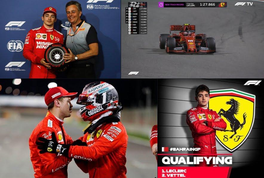 Rojadirecta F1 2019 GP Bahrain Streaming Diretta TV: dove vedere partenza gara Ferrari, doppietta in prima fila.