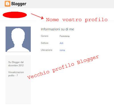 vecchio profilo blogger