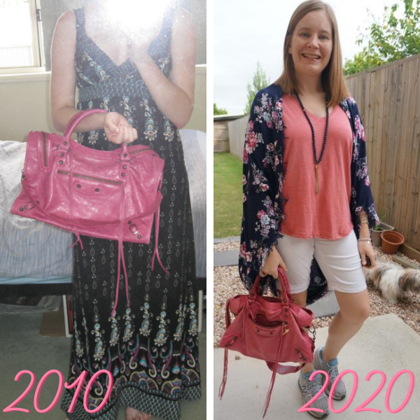 awayfromtheblue blog balenciaga 2010 sorbet city bag then and now broken in aged slouchy