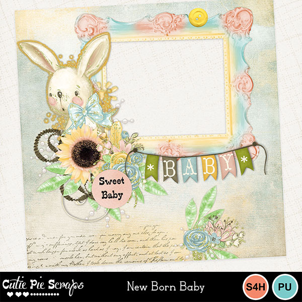 New Born Baby Quick Page - Freebie