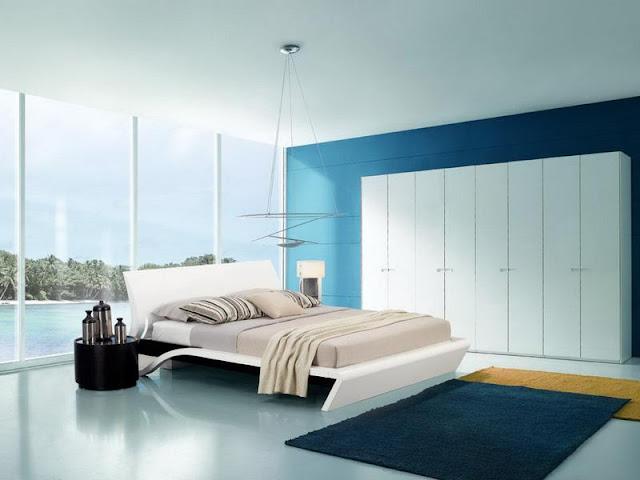 Bedroom Interior Design: Minimalist VS Light Effect Bedroom Interior Design: Minimalist VS Light Effect bold minimalist blue bedroom