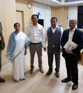 GTA chairman Binay Tamang Anit Thapa met CM Mamata Banerjee