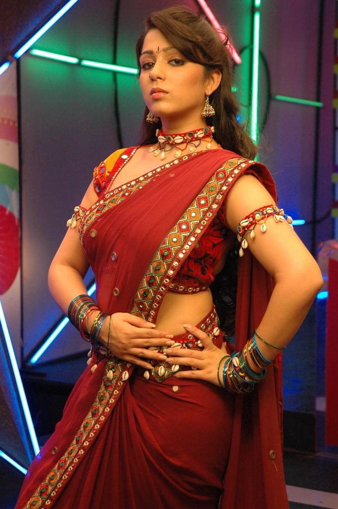 Slicypics Indian Actress Tamanna Bhatia Photos: Charmi Latest Spicy Saree Pics