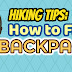 How to Properly Fit a Backpack - Video Infographic