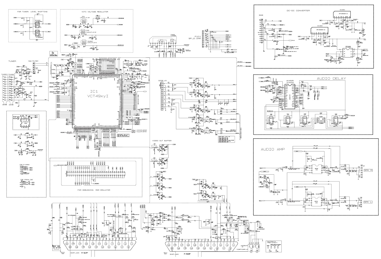tv tuner card circuit diagram hobby caravan 12v wiring rz26lz55 lg lcd schematic diagrams
