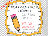 https://www.teacherspayteachers.com/Product/PCI-Level-1-Sight-Words-Read-It-Trace-It-Build-It-Highlight-It-1647628