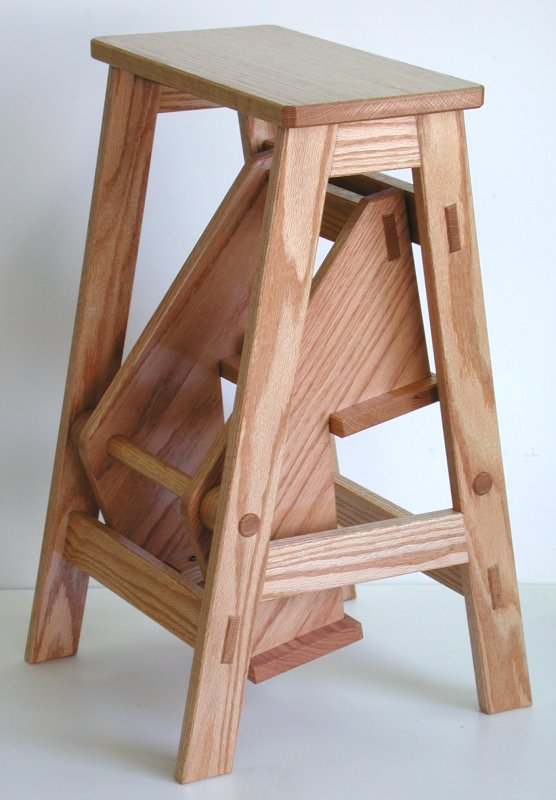 Folding Wooden Step Stool Plans PDF Woodworking