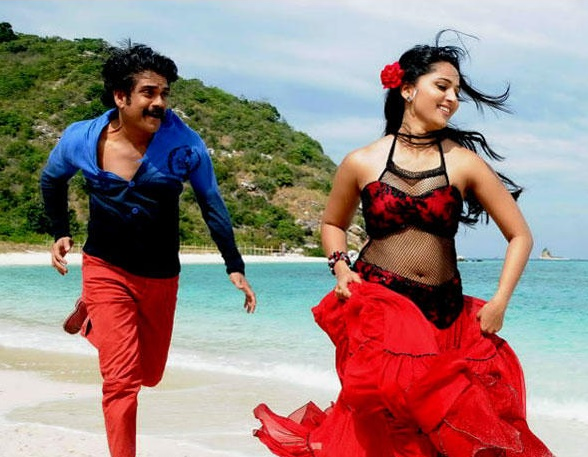 anushka shetty with Nagarjun