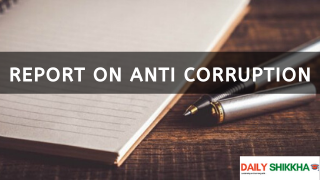 Report on Anti corruption