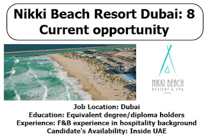 Nikki Beach Resort Dubai: 8 Current opportunity