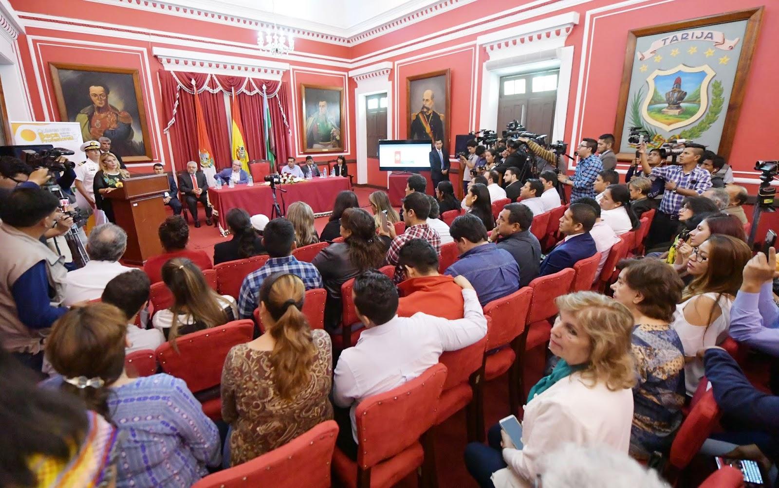 Añez hizo el anuncio sobre la salud en acto desarrollado en Tarija / ABI