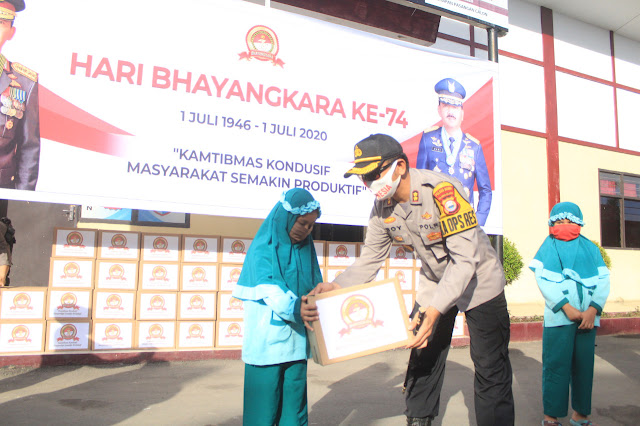 Jelang Hut Bhayangkara Ke-74, Polres Gowa Salurkan 1000 Paket Bantuan Ke Warga