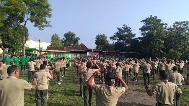 Kodim 0723 Klaten Sehatkan Badan Saat Hari Juang TNI Angkatan Darat Dengan Olahraga Bersama