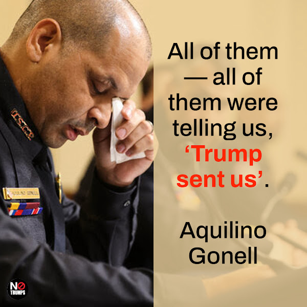 All of them — all of them were telling us, 'Trump sent us'. — Aquilino A. Gonell, U.S. Capitol Police sergeant