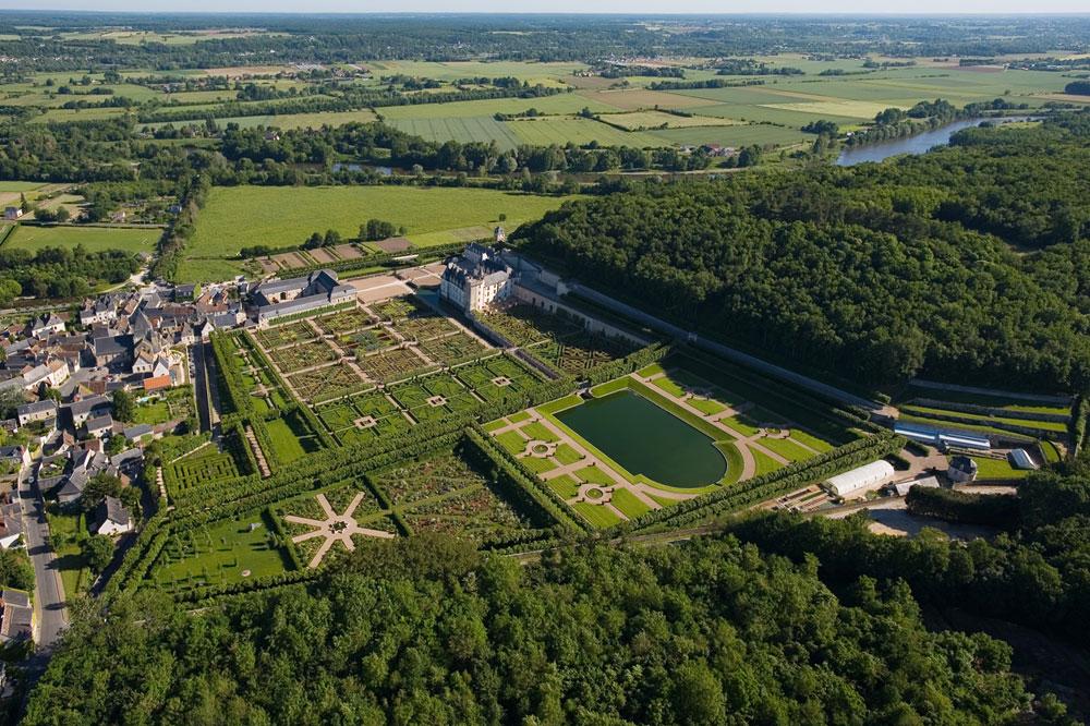 Vista aérea Palacio Villandry