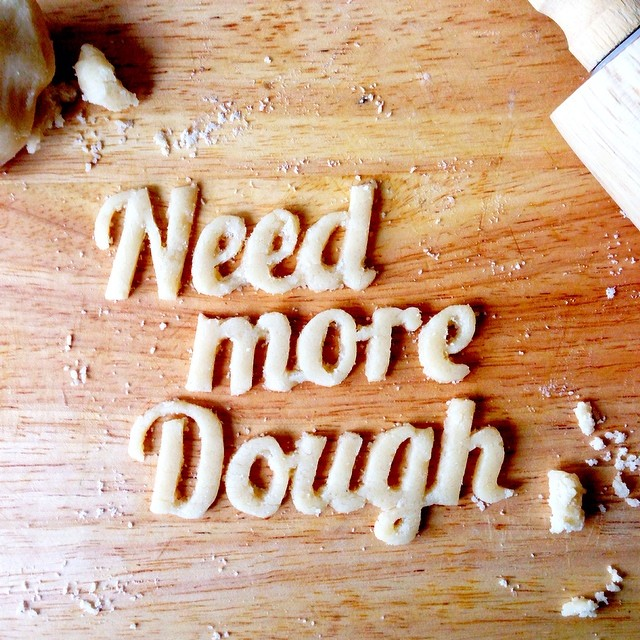 Need more dough food typography