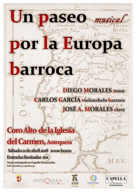 """Concierto """"Un paseo musical por la Europa barroca"""" en Antequera"""