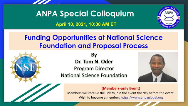 ANPA Special Talk from NSF Program Director