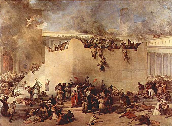 Destruição do Templo de Jerusalém, Francesco Hayez, (1791 — 1882), Gallerie dell'Accademia, Veneza