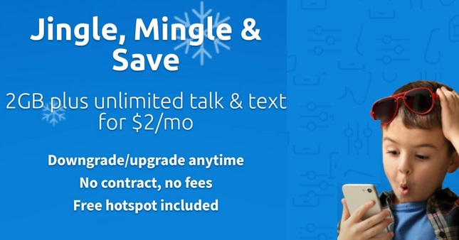 2GB Unlimited Plan for $2.00 First Month with tello.