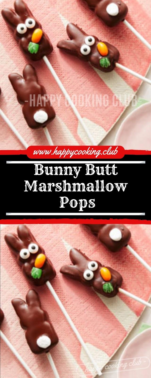 Bunny Butt Marshmallow Pops