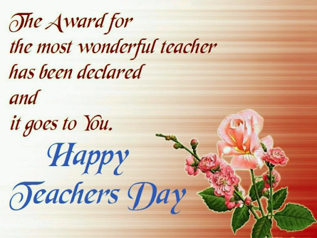 Teachers day card message