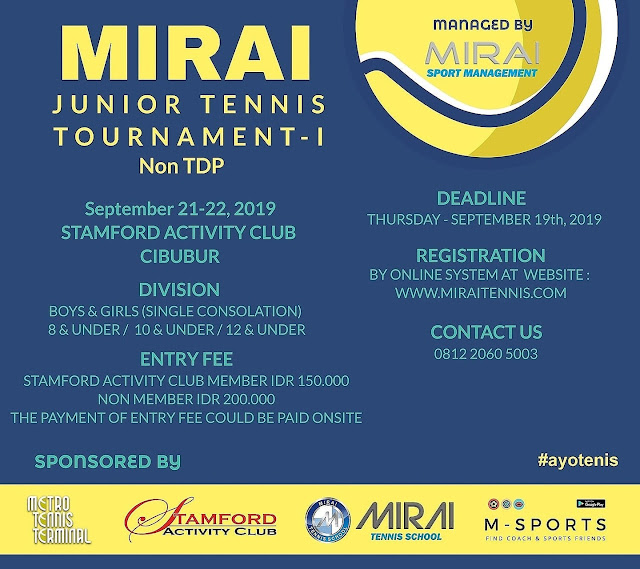 MIRAI JUNIOR TENNIS TOURNAMENT 2019