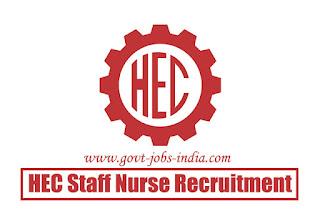 HEC Staff Nurse Recruitment 2020
