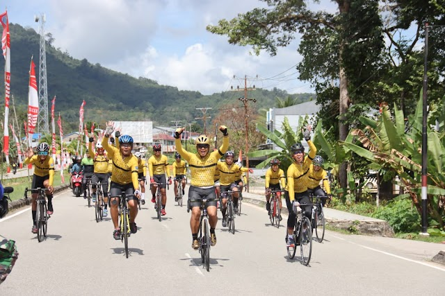 Taklukan Puluhan Tanjakan, Pangdam XII/Tpr dan Cyclist TCC Finish di Titik Nol