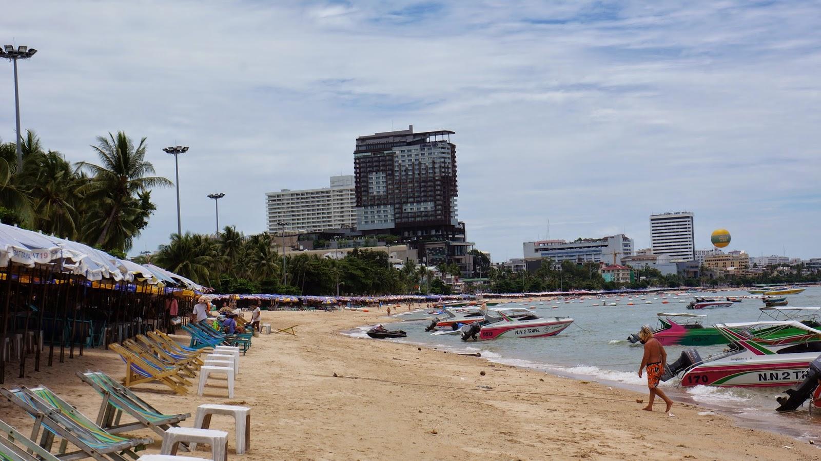 Walking along Pattaya beach