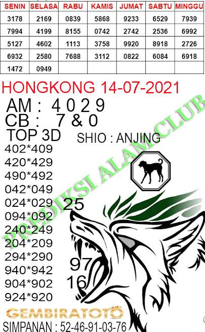 Syair hk merpati putih 14 juli 2021