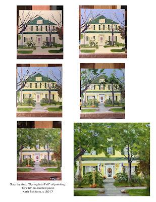 commission painting, house portrait
