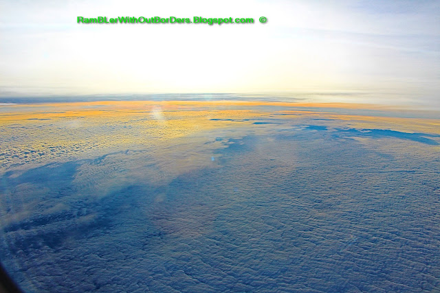 Cloudscape over northern Spain from the windows of a commercial airline