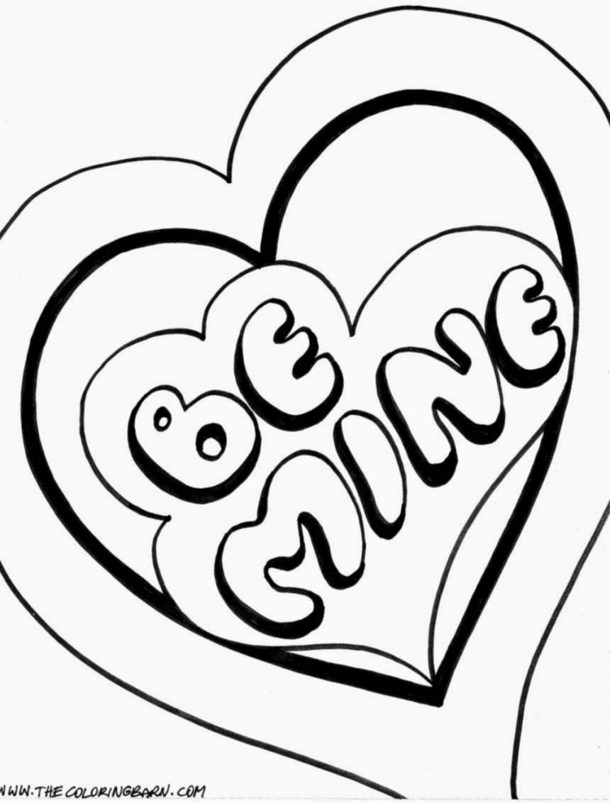 valentine coloring pages free - photo #13